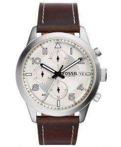 Fossil Daily Chronograph Brown Leather FS5138 Mens Watch