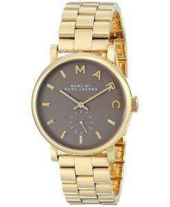 Marc By Marc Jacobs Baker Quartz Grey Dial Gold Plated MBM3281 Womens Watch