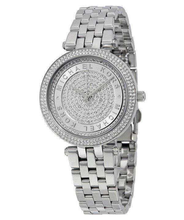 e43833b0e2c6 Michael Kors Mini Darci Crystal Pave Dial Stainless Steel MK3476 Womens  Watch