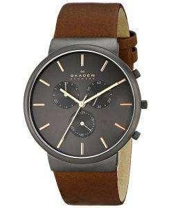 Skagen Ancher Chronograph Brown Leather SKW6106 Mens Watch