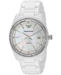 Emporio Armani Ceramica Crystals AR1497 Womens Watch