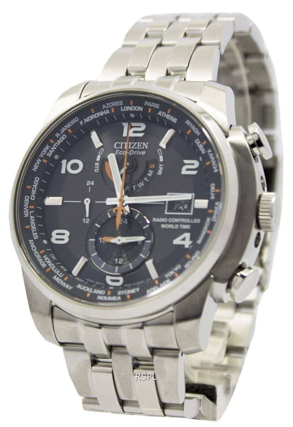 d4dec50d2 Citizen Eco-Drive Atomic Radio Controlled World Time AT9010-52E Men's Watch