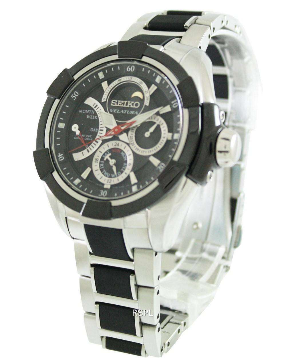 Seiko velatura kinetic direct drive srx009p1 srx009p srx009 men 39 s watch for Watches direct