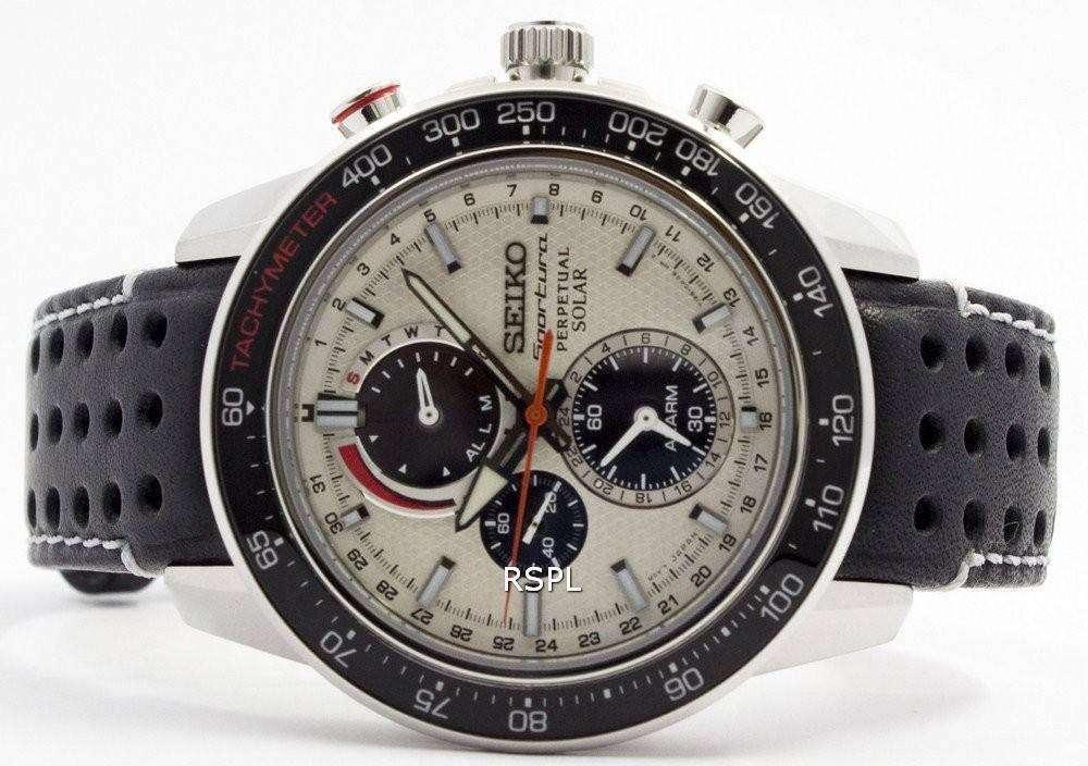 8d9b2c34e Seiko Sportura Solar Chronograph Perpetual SSC359P1 SSC359P Mens Watch
