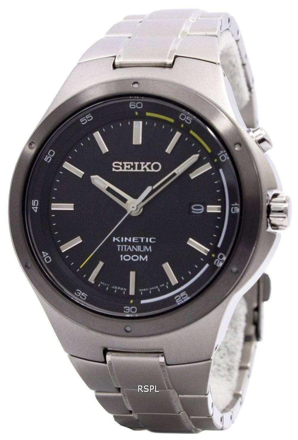 Seiko Kinetic Titanium Power Reserve SKA715P1 SKA715P SKA715 Men s Watch 9d58f9a10