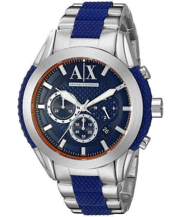 d3e70b0876ab Armani Exchange Quartz Chronograph Blue Dial AX1386 Men s Watch Canada