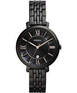 Fossil Jacqueline Quartz Black Dial Black Ion Plated ES3614 Womens Watch