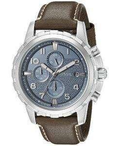 Fossil Dean Chronograph Quartz Dark Brown Leather Strap FS5022 Mens Watch