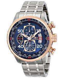 Invicta Aviator Quartz Chronograph Blue Dial 17203 Mens Watch