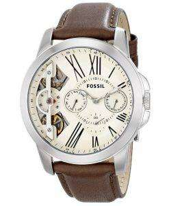 Fossil Grant Twist Multifunction Quartz Brown Leather Strap ME1144 Mens Watch