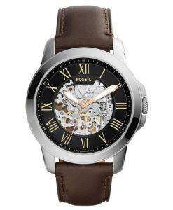 Fossil Grant Automatic Black Skeleton Dial ME3100 Mens Watch