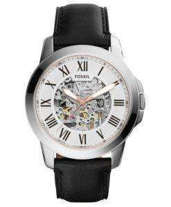 Fossil Grant Automatic Silver Skeleton Dial ME3101 Mens Watch