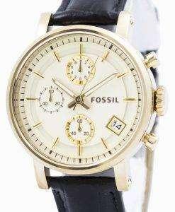Fossil Original BoyFriend Chronograph Stainless Steel C181019-BLK Womens Watch