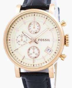 Fossil Original BoyFriend Chronograph Stainless Steel C181020-BLK Womens Watch