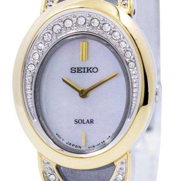 Seiko Solar Two Tone Swarovski Crystals Sup296 Sup296p1