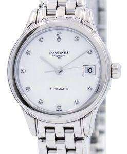 Longines Flagship Automatic Diamond White Dial L4.274.4.27.6 Women's Watch