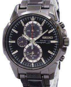 Seiko Solar Chronograph Alarm Black Dial SSC095P1 SSC095 SSC095P Mens Watch