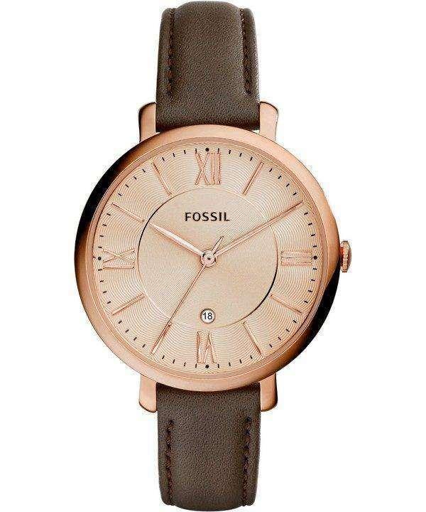 Fossil Jacqueline Quartz Gray Leather ES3707 Womens Watch