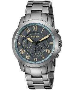 Fossil Grant Chronograph Quartz Gunmetal Dial FS5185 Mens Watch