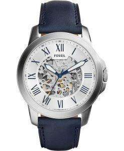 Fossil Grant Automatic Silver Skeleton Dial ME3111 Mens Watch