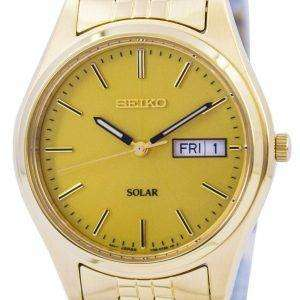 Seiko Core Solar Gold Tone SNE036 SNE036P1 SNE036P Mens Watch