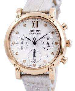 Seiko Chronograph Quartz Crystals SRW834 SRW834P1 SRW834P Womens Watch