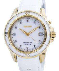 Seiko Sportura Kinetic Diamond Accent SKA876 SKA876P1 SKA876P Womens Watch