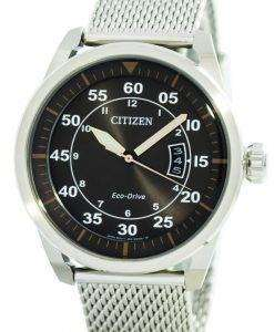 Citizen Aviator Eco-Drive Mesh Band AW1360-55F Men's Watch