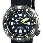 Citizen Promaster Eco-Drive Professional Diver's 300M DLC Japan Made BN0177-05E Men's Watch