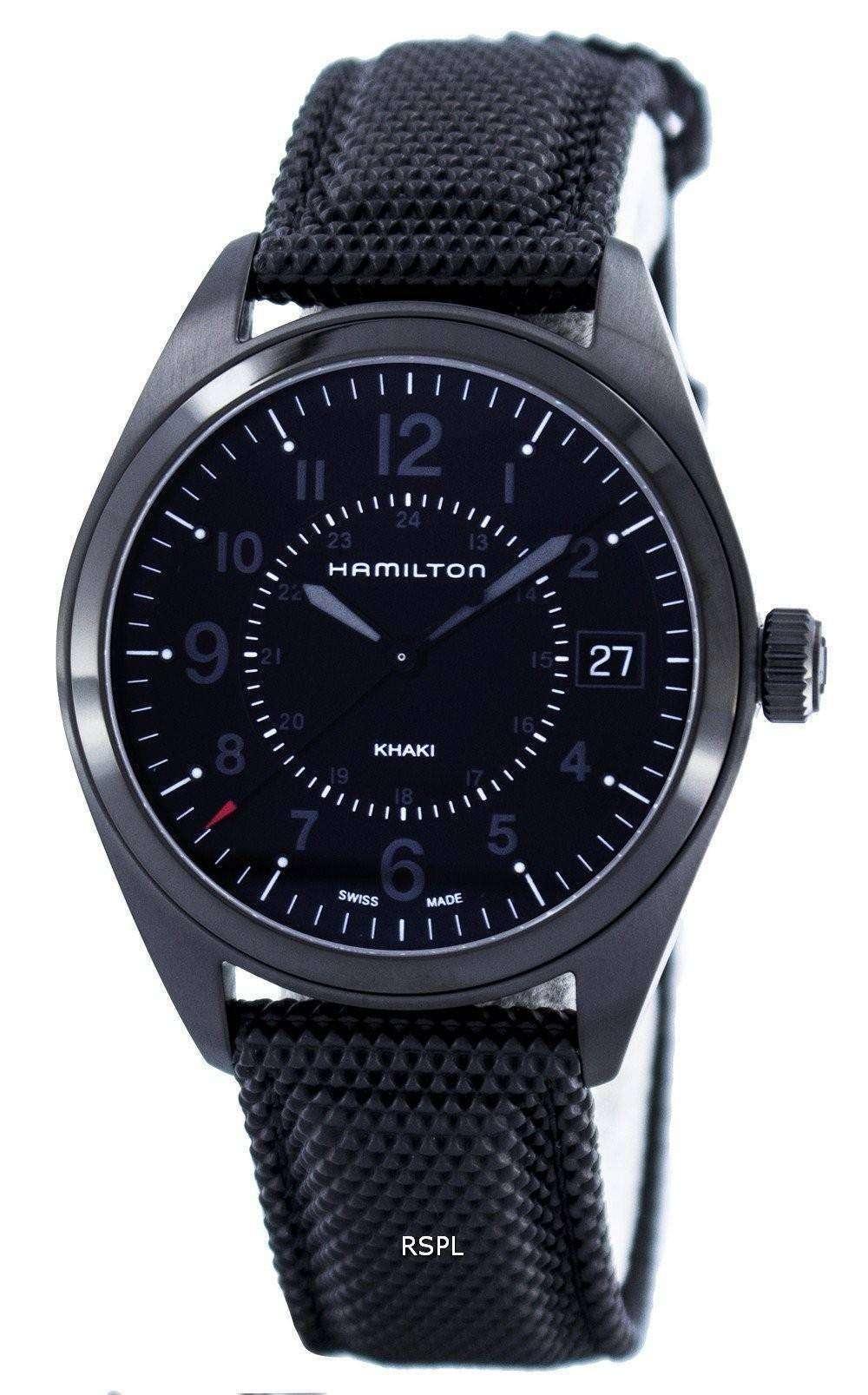 Hamilton khaki field quartz swiss made h68401735 mens watch for Swiss made watches