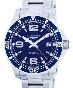 Longines HydroConquest Automatic Power Reserve L3.641.4.96.6 Mens Watch