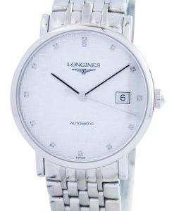 Longines Elegant Collection Automatic Diamond Accent L4.810.4.77.6 Mens Watch