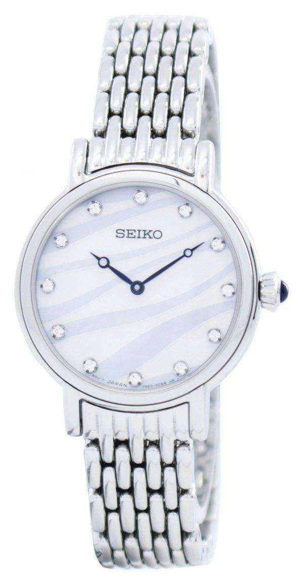 Seiko Quartz Swarovski Crystals SFQ807 SFQ807P1 SFQ807P Women's Watch