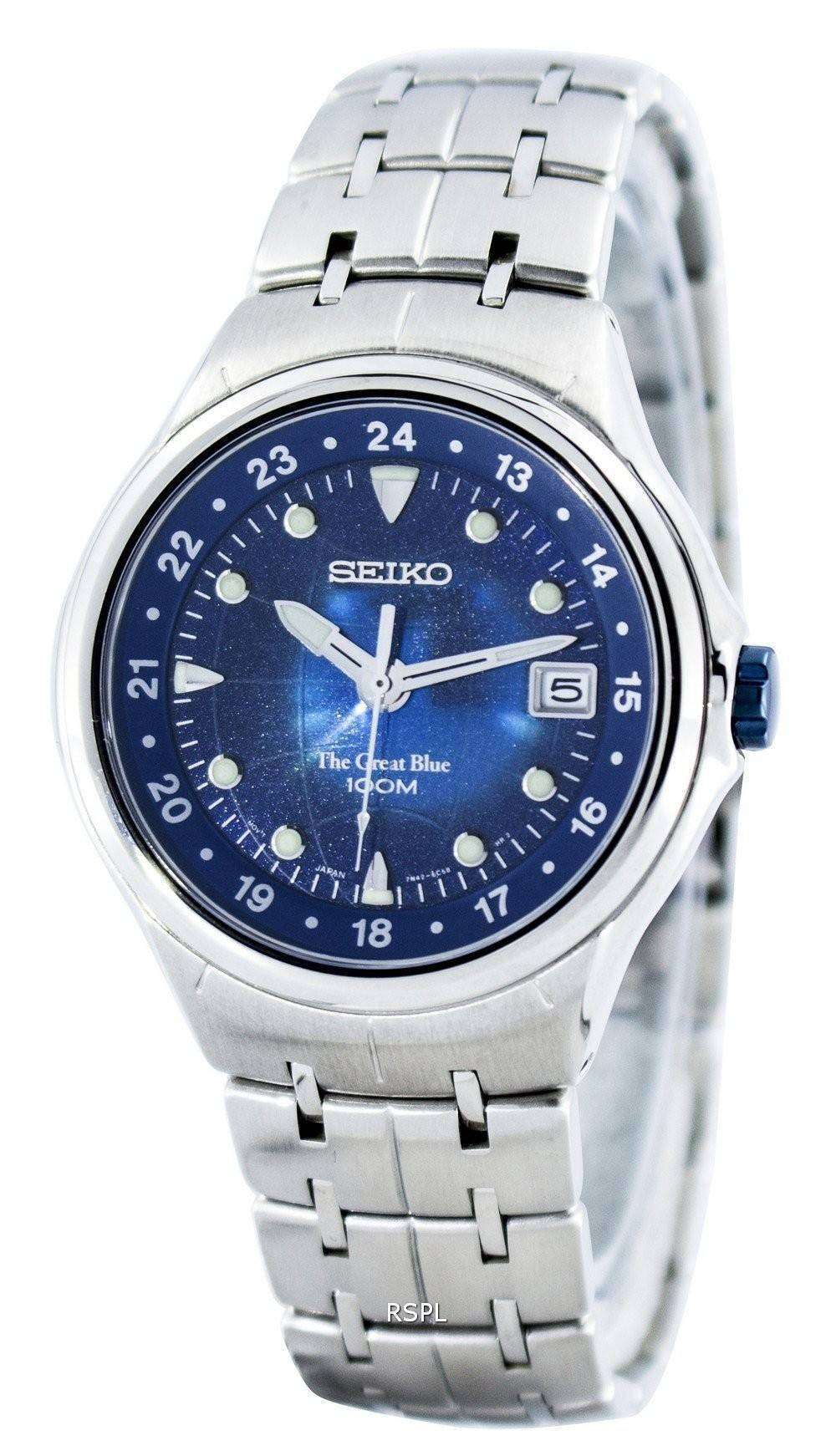 Seiko The Great Blue Quartz Sge487 Sge487p1 Sge487p Men S