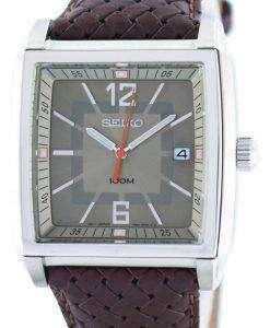 Seiko Quartz Square Shape SGED77 SGED77P1 SGED77P Men's Watch
