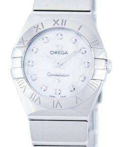 Omega Constellation Quartz Diamond Accent Power Reserve 123.10.24.60.55.001 Women's Watch