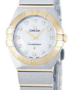 Omega Constellation Quartz Diamond Accent Power Reserve 123.20.24.60.55.002 Women's Watch
