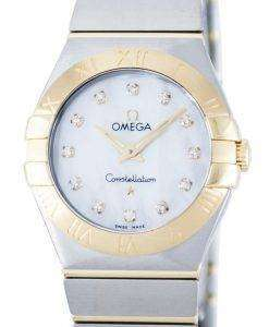 Omega Constellation Quartz Diamond Accent Power Reserve 123.20.27.60.55.002 Women's Watch
