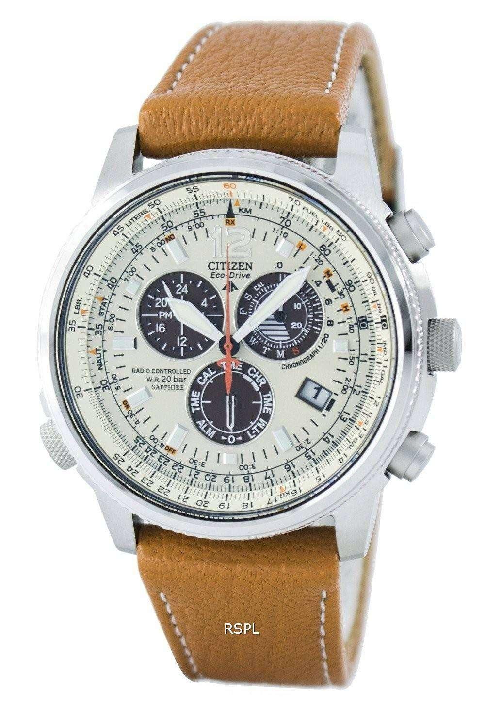 515b34cd6f60 Citizen Promaster Sky Pilot Eco-Drive Radio Controlled Chronograph  AS4020-44B Men s Watch