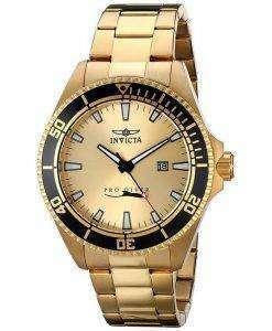 Invicta Pro Diver Gold Tone Quartz 15186 Mens Watch