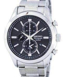 Seiko Chronograph Quartz Alarm SNAF67 SNAF67P1 SNAF67P Men's Watch