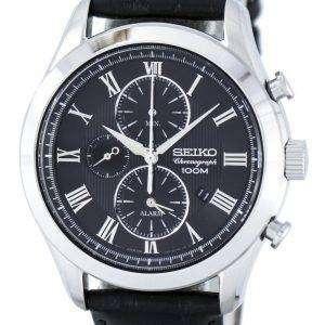 Seiko Chronograph Quartz Alarm SNAF71 SNAF71P1 SNAF71P Men's Watch