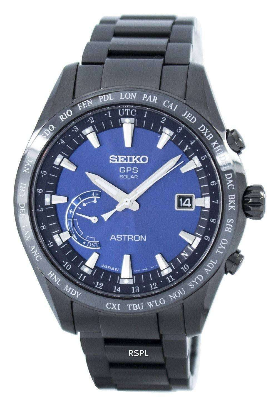 c31939525 Seiko Astron Titanium GPS Solar World Time Japan Made SSE111 SSE111J1  SSE111J Men's Watch