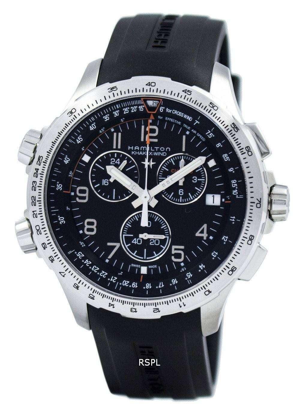 meilleures baskets 24ab0 adb4c Hamilton Khaki Aviation X-Wind Chronograph Quartz GMT H77912335 Men's Watch