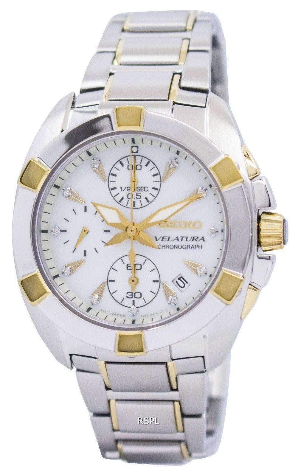 85885581d0a0 Seiko Velatura Chronograph SNDZ40 SNDZ40P1 SNDZ40P Ladies Diamonds  Collection Watch