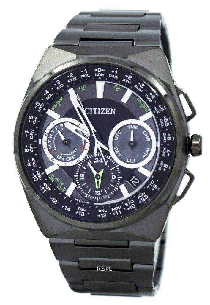 Citizen Eco-Drive Titanium Satellite Wave World Time CC9004-51E Men's Watch