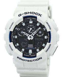 Casio G-Shock World Time White Analog Digital GA-100B-7A Mens Watch