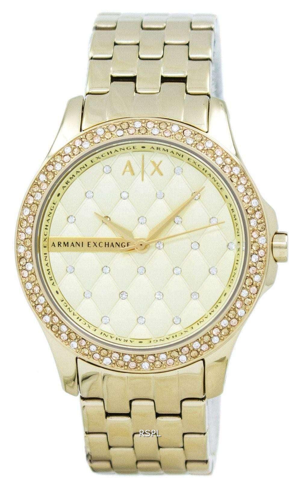 f6bbe95c96d Armani Exchange Lady Hampton Champagne AX5216 Womens Watch
