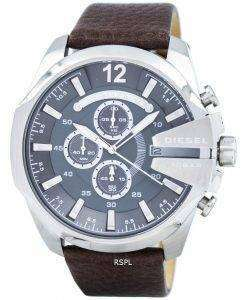 Diesel Mega Chief Chronograph Grey Dial DZ4290 Mens Watch