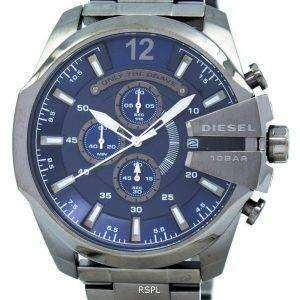 Diesel Mega Chief Chronograph Blue Dial 100M DZ4329 Mens Watch